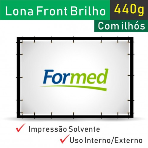 Lona Brilho 440g com Ilhos